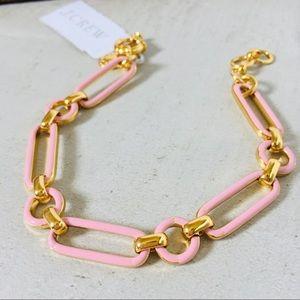 J. CREW Enamel Link Bracelet Pink